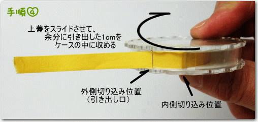 リール型pH試験紙/取り出し方